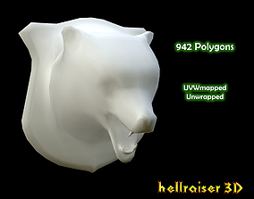 3D asset Bear Head