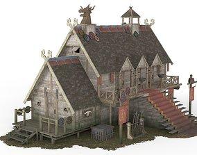 3D model Viking House 05