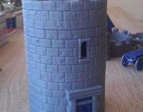 Modular Watchtower - WarGames - Terrain - 3D print model 1