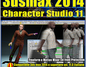 3ds max 2014 Character Studio v 11 Italiano cd animated