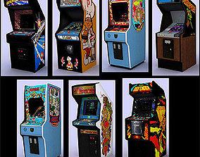 3D asset Classic arcade games - pack 1