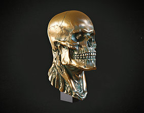 Skull of biomechanical character 3D printable model