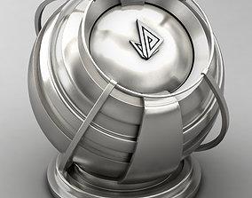 VRAY SHADER---METAL---Rhodium 3D model
