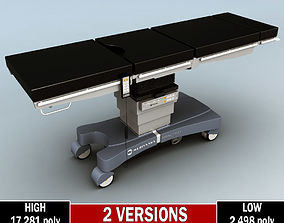 3D Operating surgical table low poly