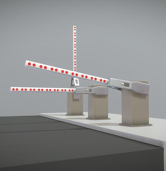 Railroad Barrier 2m High-Poly Version (Blender-2.91)