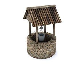 Stone Well 3D asset