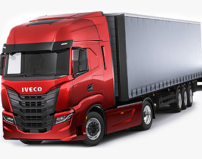 Iveco S-Way 2020 with trailer 3D
