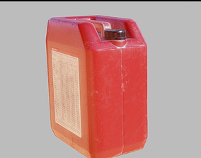 3D asset Plastic canister PBR Game-Ready