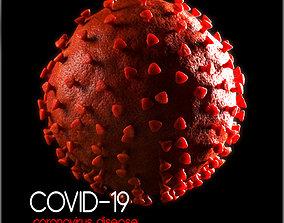 Covid-19 Coronavirus 3D microbe