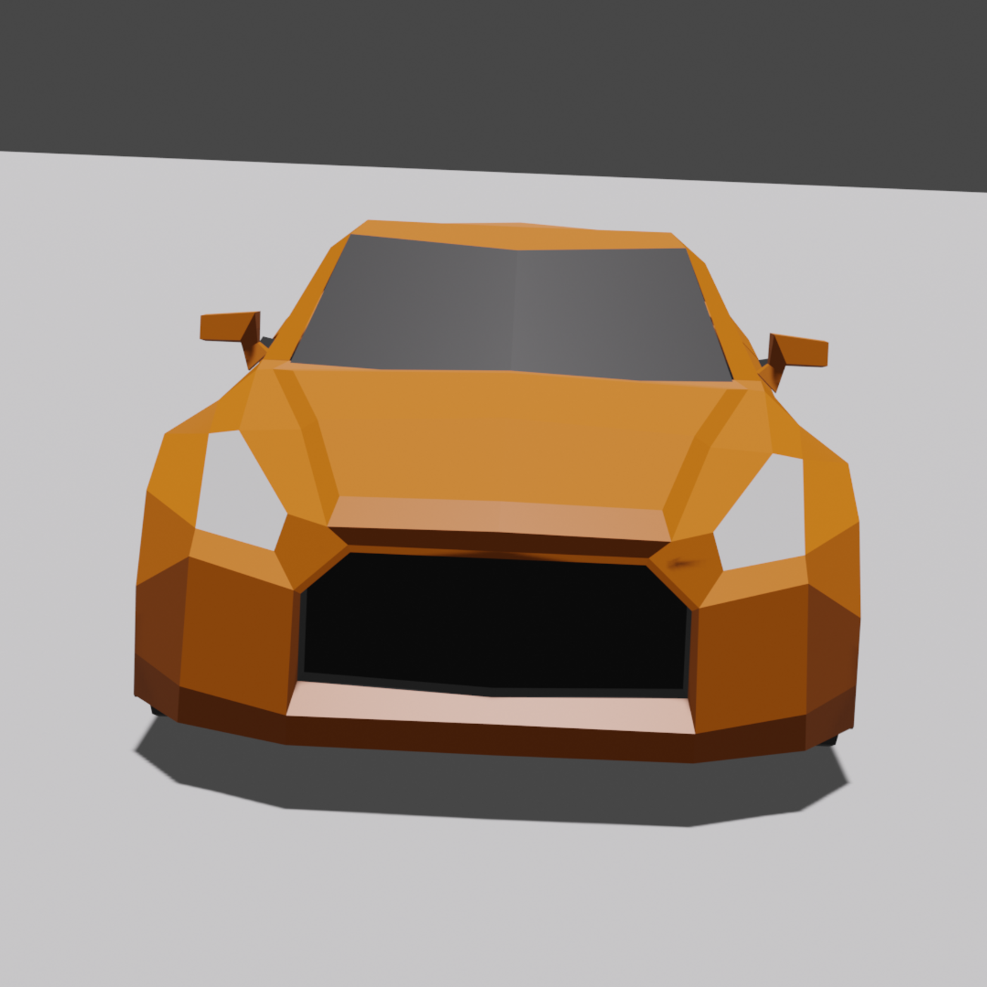 Nissan GT-R Low Poly