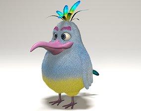 3D model rigged cartoon bird
