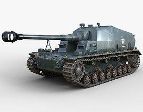 3D model Tank 10 5 CM K18 Auf Panzer Iray piu