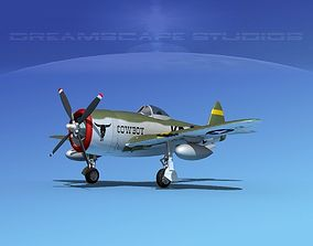 3D model Republic P-47D Thunderbolt V13