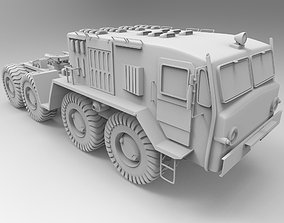 Russian Military Vehicles MAZ537 3D model
