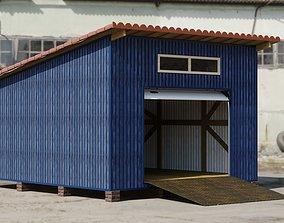 3D model story Village Garage Russian style