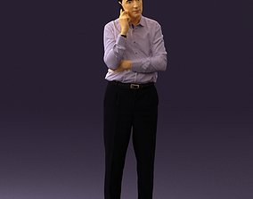 3D print model Man in suit pants blue top 0574 cjp