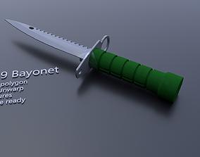 M9 bayonet textured 3D asset