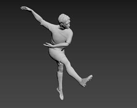 Footballer Figure - Low Poly 3D asset game-ready