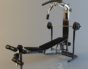 Gym Equipment 3D asset