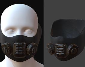 realtime Gas mask helmet 3d model 1