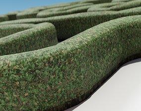 Hedge bush 3D asset