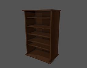 3D asset Book Case - Wooden Book Cabinet