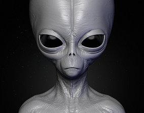 Realistic Alien 5 Sculpt 3D sci
