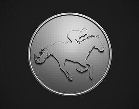 Polo Rider Button 3D print model