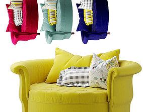 3D model round-sofa Round Modern Leisure Chair