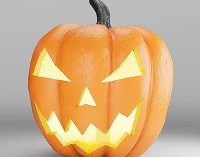 Jack-O-Lantern Halloween 3D model fruit