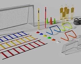 3D asset Football Training Equipments