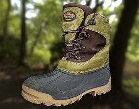 Boot 3D model footwear lowpoly realtime