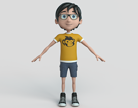 Cartoon Boy NoRig 3D model cartoon