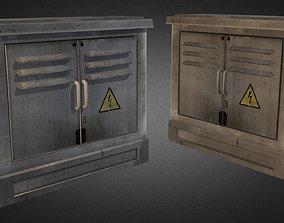 3D model Electric Fuse Box 02