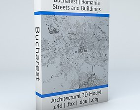 3D Bucharest Streets and Buildings