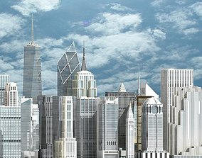 3D New York Skyscrapers