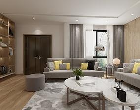 livingroom and diningroom 3D model