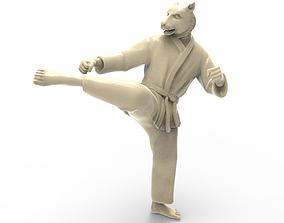 Tiger Roundhouse Kick 3D printable model