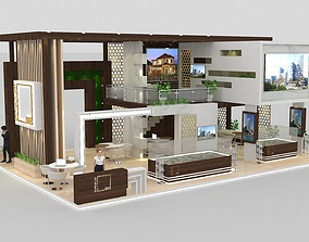 Real estate Size 15 x 10 m 4 side open 3D