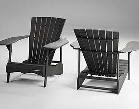 Wood Adirondack Chair 3D