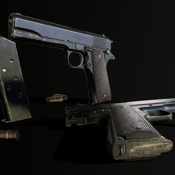 M1911A1 - GameAsset - WW2 Era