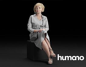 3D model Humano Elegant Woman Sitting nad talking 0318