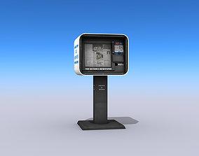 Newspaper Vending Machine 3D asset