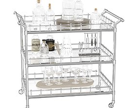 Eichholtz Scarlett Trolley bar cart 3D