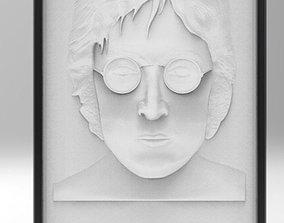 3D print model John Lennon 10mm deep