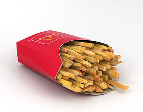 French Fries 3D lunch