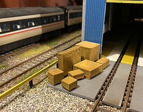Model Railway Wooden Transport Shipping Crates