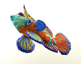 Mandarin fish 3D model