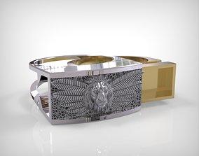 0571 Lion Ring - Secret 3D print model