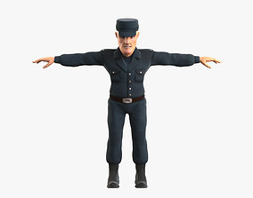 3D model Policeman